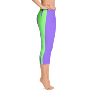 Pro X Purple/Green Capri Leggings