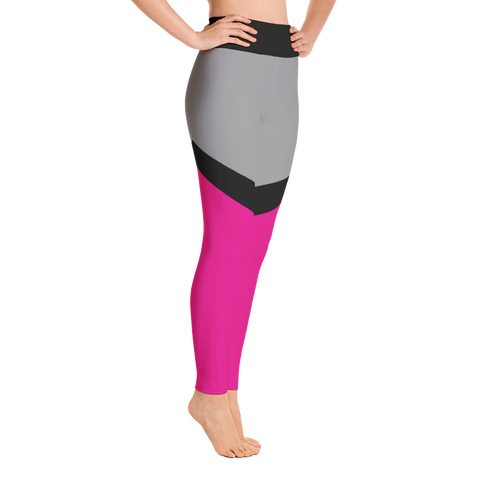 Pink Colorblock 2 Yoga Leggings