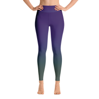 Green/Purple Gradient Yoga Leggings
