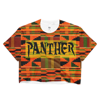 Ladies Tribal Panther Crop Top