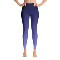 Deep Blue Gradient Yoga Leggings