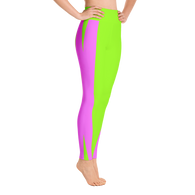 Green/Pink X Yoga Leggings