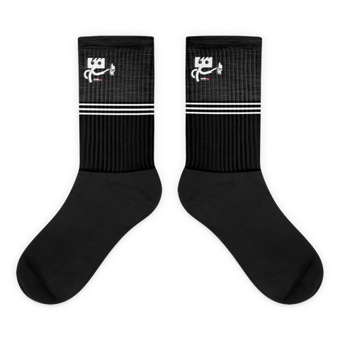 Black Flagship Stripe Socks