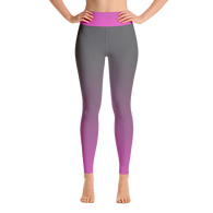 Gradient Pink/Grey Yoga Leggings