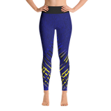 Blue/Yellow Stitch Yoga Leggings