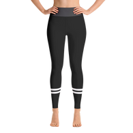 Black Stripe Yoga Leggings
