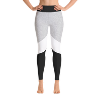 Grey&Black Colorblock Yoga Leggings