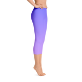 Unicorn Gradient Capri Leggings