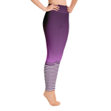 Flagship Purple Stripe Yoga Leggings