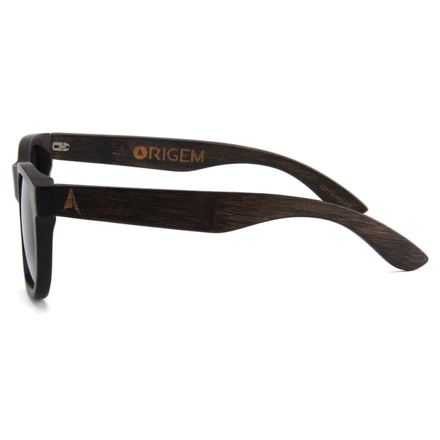 Madidi - ORIGEM sunglasses in dark bamboo and grey polarized lens - side