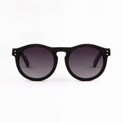 Kaimu - ORIGEM sunglasses in dark bamboo and grey polarized lens - front view
