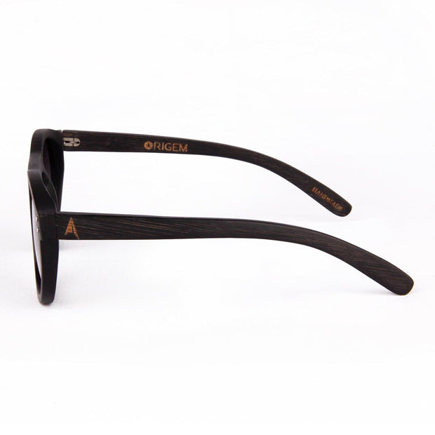 Kaimu - ORIGEM sunglasses in dark bamboo and grey polarized lens - side view