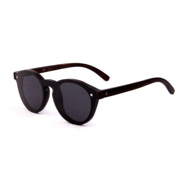 Komodo - ORIGEM sunglasses in dark bamboo and grey polarized lens - angle view