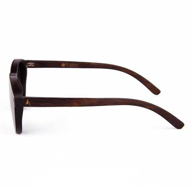 Komodo - ORIGEM sunglasses in dark bamboo and grey polarized lens - side view