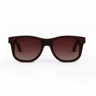 Madidi - ORIGEM sunglasses in dark bamboo and brown polarized gradient lens - front view