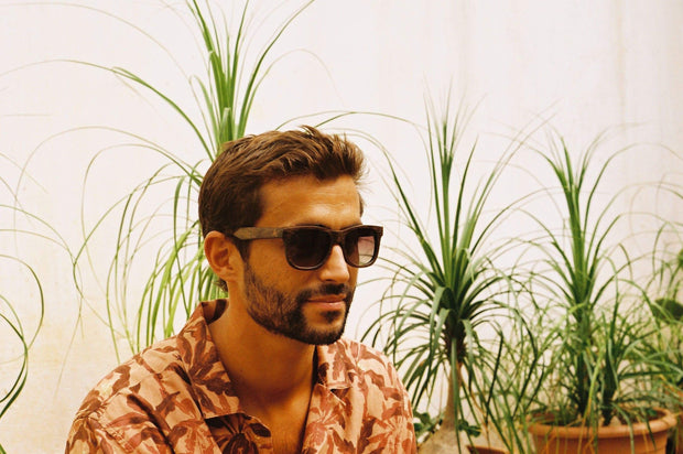 Madidi brown sunglasses male model