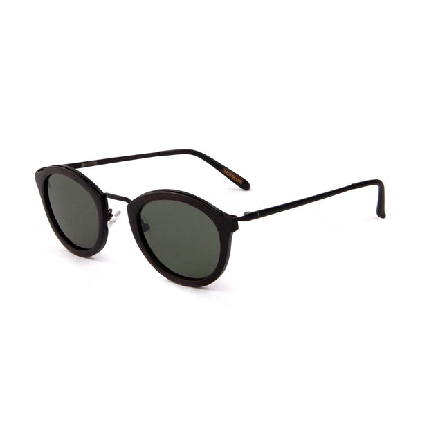Namib - ORIGEM sunglasses in dark brown bamboo and grey polarized lens - angle view