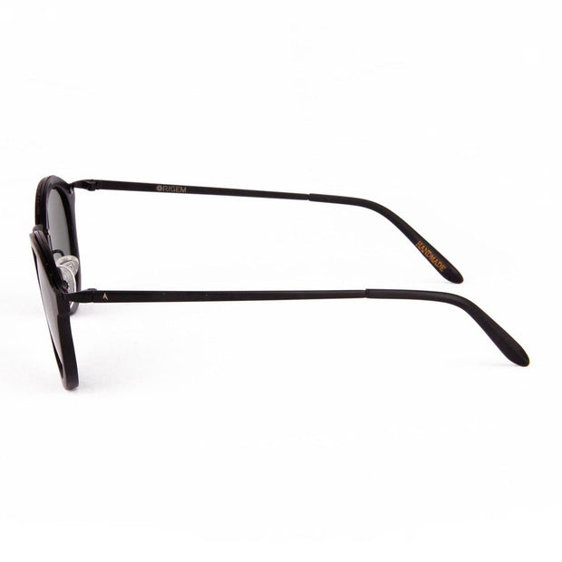 Namib - ORIGEM sunglasses in dark brown bamboo and grey polarized lens - side view