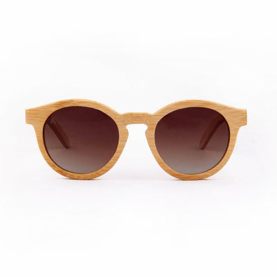 Noosa - ORIGEM sunglasses in light bamboo and brown polarized lens - front view