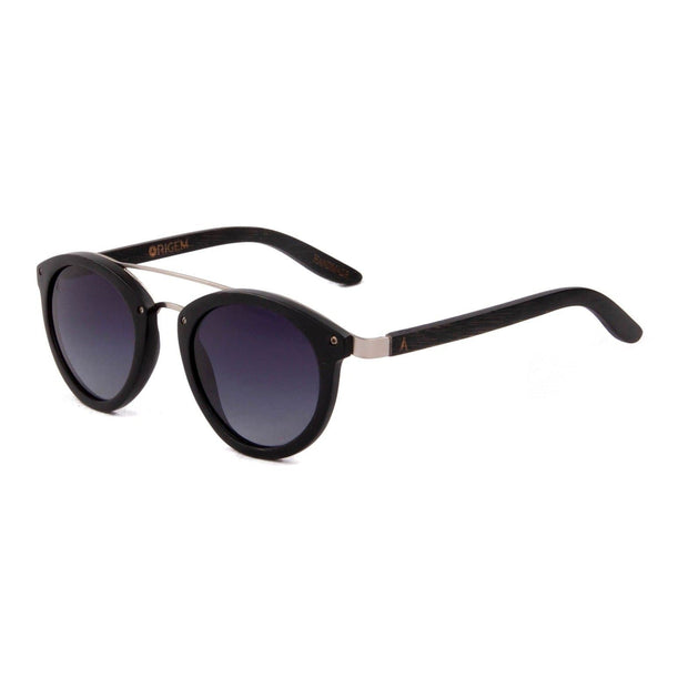 Sipapu - ORIGEM sunglasses in dark bamboo and grey polarized lens - angle view