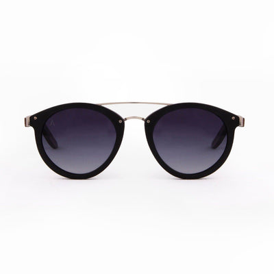 Sipapu - ORIGEM sunglasses in dark bamboo and grey polarized lens - front view