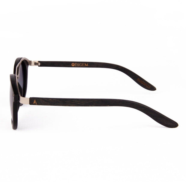 Sipapu - ORIGEM sunglasses in dark bamboo and grey polarized lens - side view