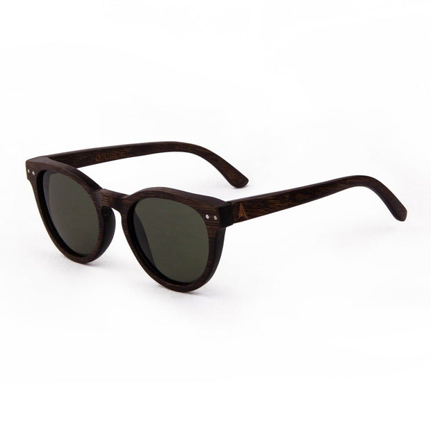 Yosemite - ORIGEM sunglasses in dark bamboo and grey polarized lens - angle view