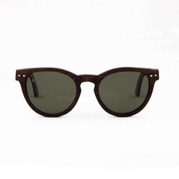Yosemite - ORIGEM sunglasses in dark bamboo and grey polarized lens - front view