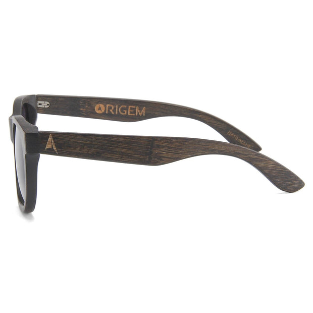 Madidi - ORIGEM sunglasses in dark bamboo and brown polarized gradient lens - side