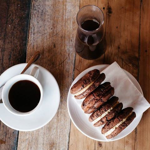 Coffee and Butterbing Cookie Sandwiches