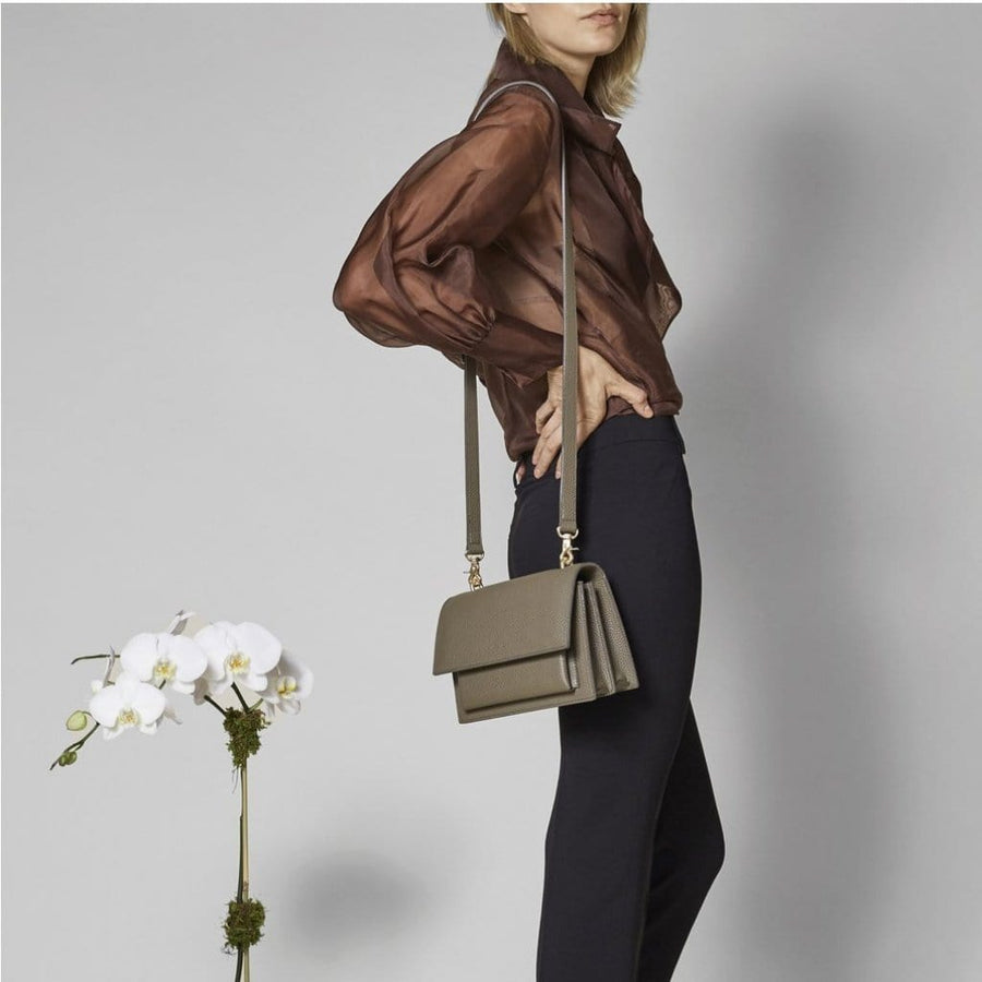 vegan-handbag Angela Roi PRE-ORDER: Eloise Satchel (Ash Brown) ethical-gallery