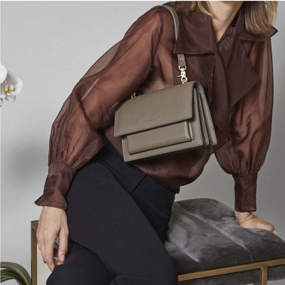 vegan-handbag Angela Roi Eloise Satchel (Ash Brown) ethical-gallery