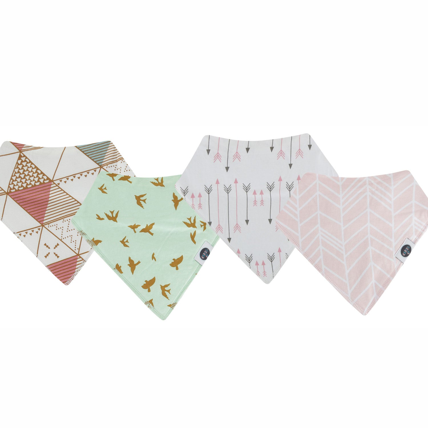 Bandana Bibs are stylish made with cotton fabric that are soft and absorbent.
