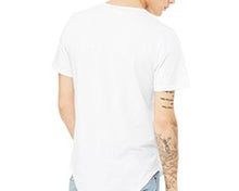 Curved Hem Short Sleeve T-shirt - Black/Grey/White