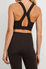 Suspended X Racerback Sports Bra - Coffee