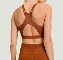 Harness Strap Racerback Cutout Sports Bra - Acorn