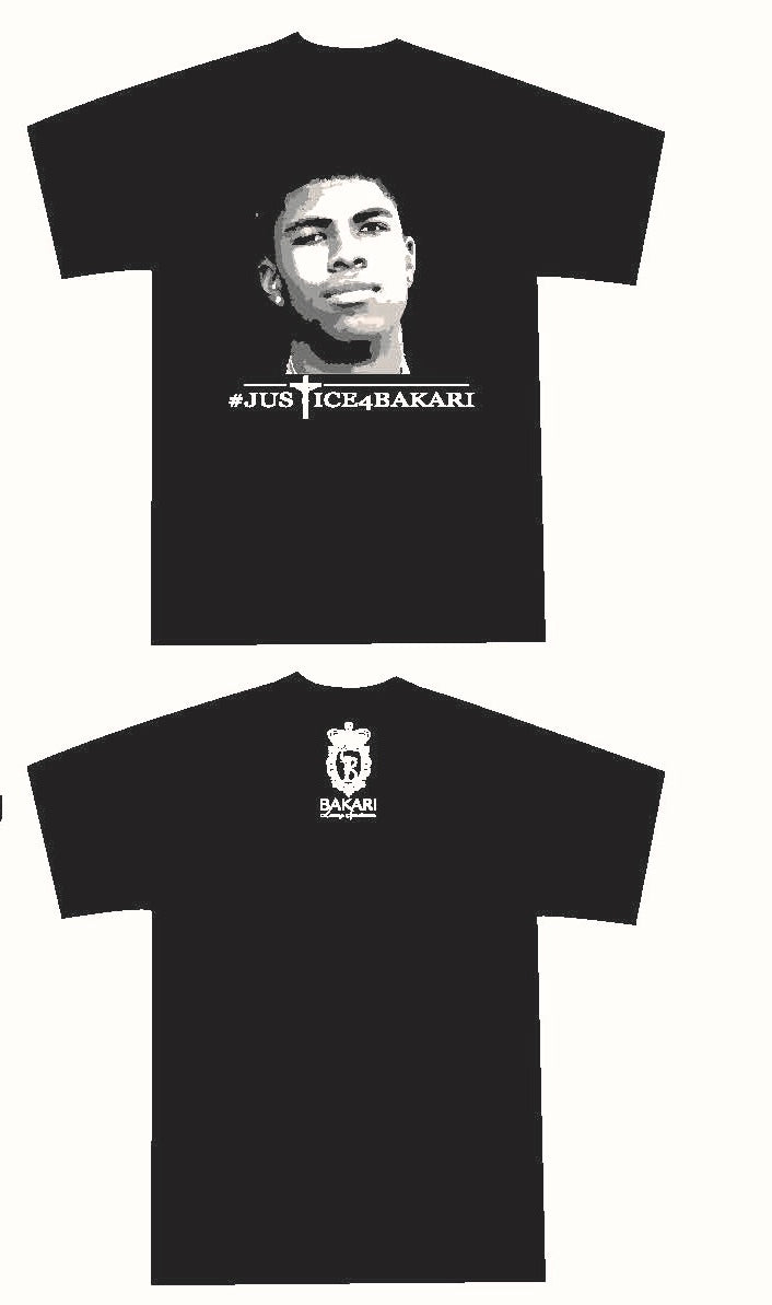 Justice Collection - Justice4Bakari Black Crew Neck Tee