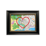 Springfield (The Simpsons) Heart Map - 4x6