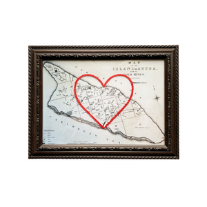 Aruba Heart Map - 5x7