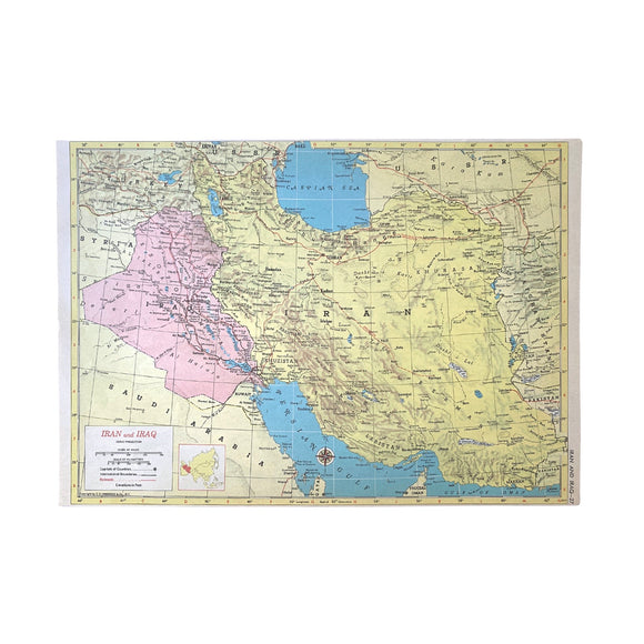 Iran & Iraq/Turkey & Syria Atlas Page