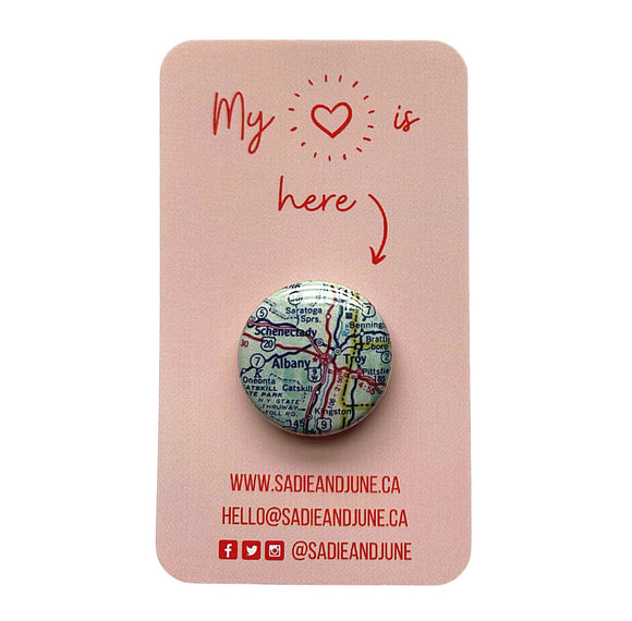 Albany Pinback Button