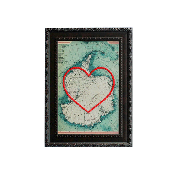 Antarctica Heart Map