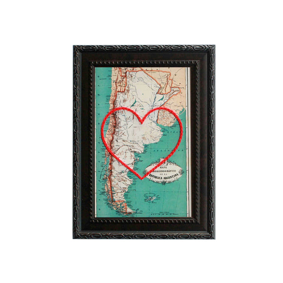 Argentina Heart Map