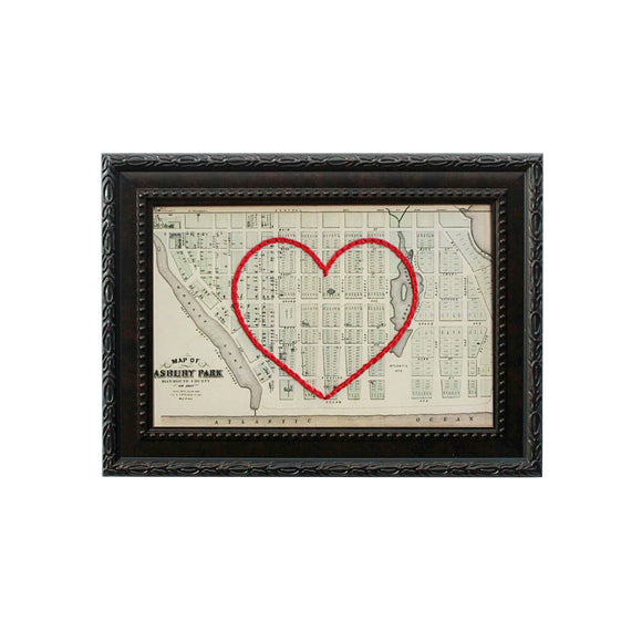 Asbury Park, NJ Heart Map