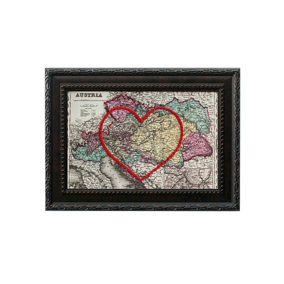 Austria Heart Map