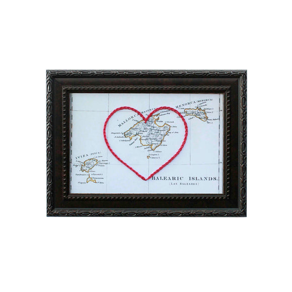 Balearic Islands Heart Map