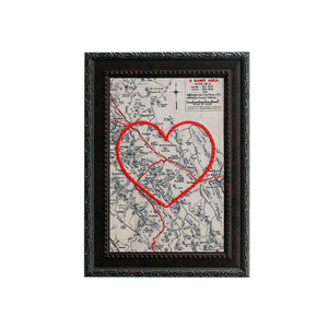 Banff and Lake Louise Heart Map