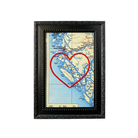 Banks Island, BC Heart Map