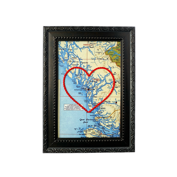 Bella Bella, BC Heart Map