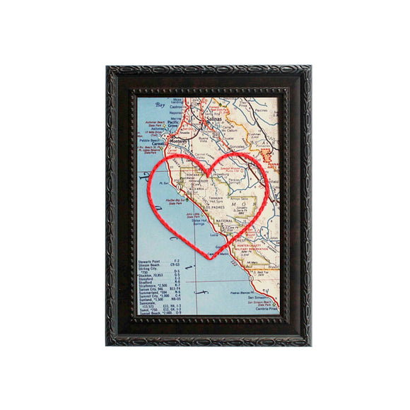 Big Sur Heart Map